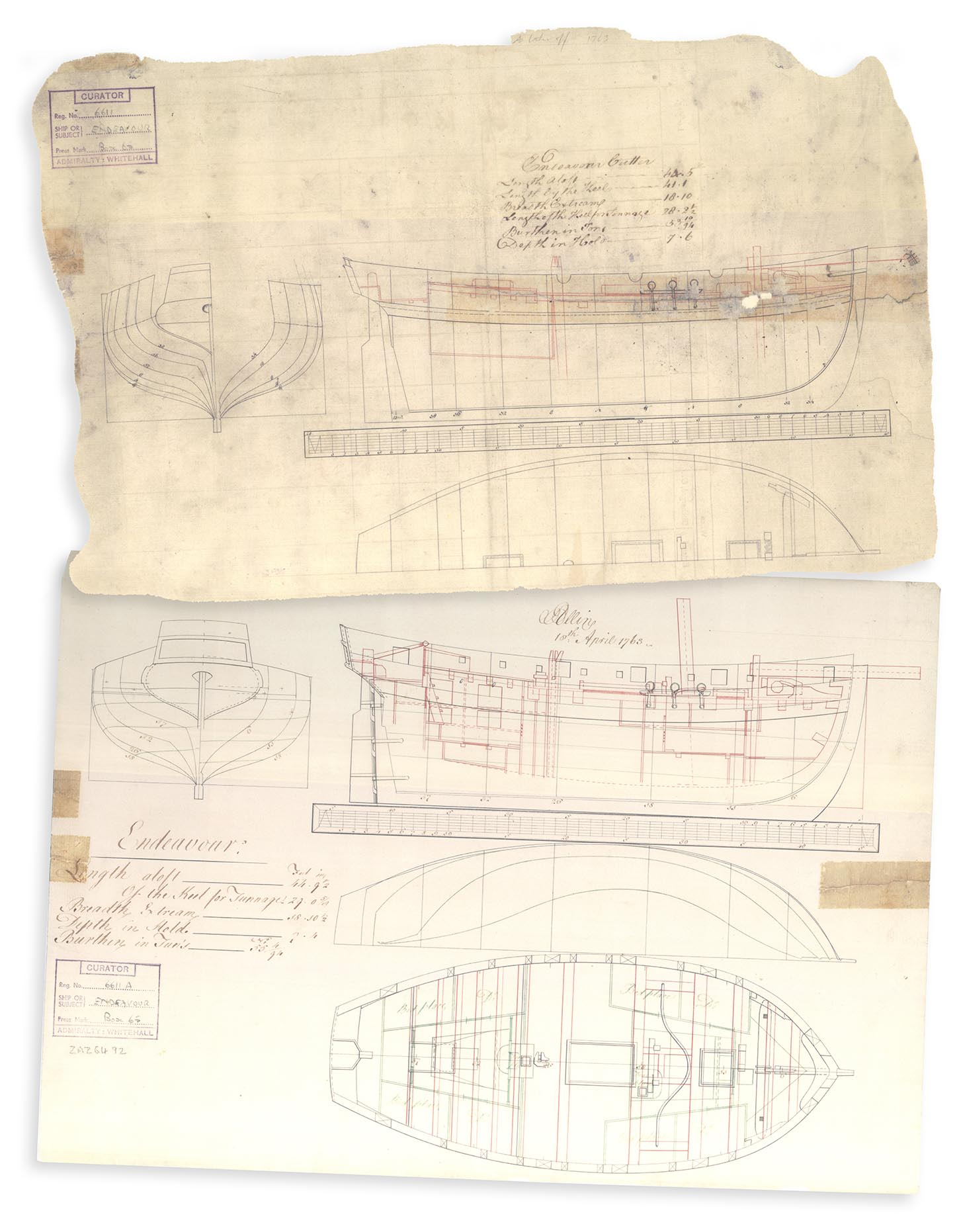 Our cutter ship will be based in these original blueprints.